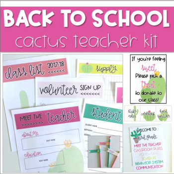 Back to School Set *CACTUS*
