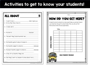 Back to School Set Getting to Know You and Parent Forms