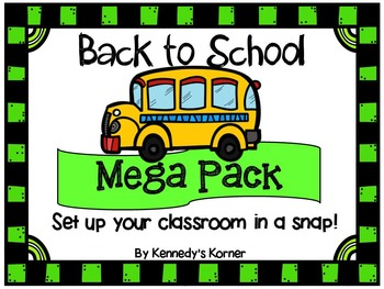 Back to School Set Up ~ Mega Bundle