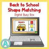 Back to School Shape Matching Digital Busy Box for Distanc