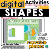 Back to School Shapes for Google Classroom Activities DIST