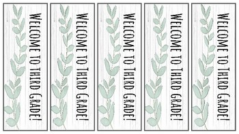 Back to School Shiplap Bookmarks
