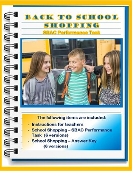 Back to School Shopping – SBAC Performance Task