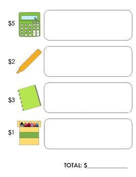 Back to School Shopping - dollar bill