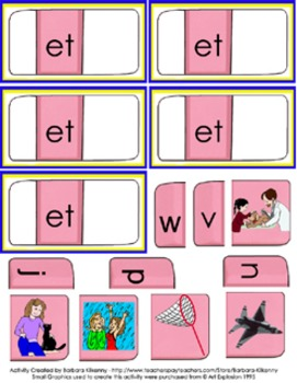 "Literacy Center - Back to School – ""Short E"" Literacy Center"