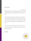 """Back to School """"Show and Tell"""" Parent Letter (English/Spanish)"""
