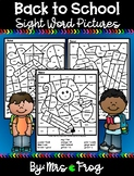Back to School / Fall Color By Sight Word Pages Bundle 1