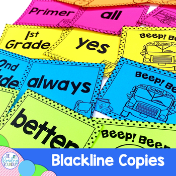 Back to School Sight Word Flash Cards & Game   August