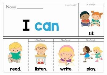 Back to School Sight Word Fluency Flip Books