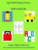 Back to School Sight Word Mystery Pictures Grade 2 dolch list