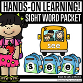 Back to School Sight Word Packet