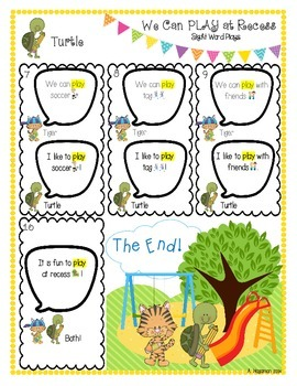 Back to School Sight Word Plays Bundle