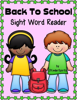 Back to School Sight Word Reader