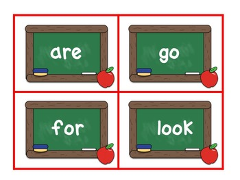 Back to School Sight Word Scramble