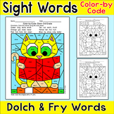 Color by Sight Words Differentiated Phonics Activity - Cat
