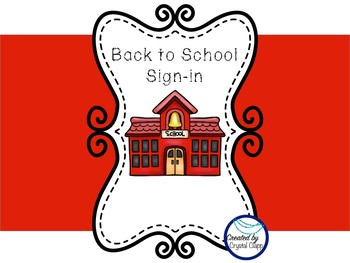 Back to School Sign-in