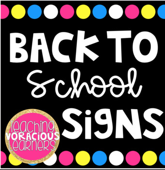 Back to School Signs
