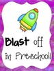 Back to School Signs- Blast Off from Pre-k to 6th