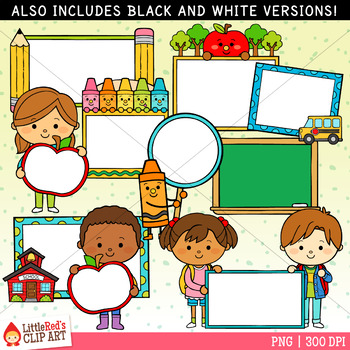 Back to School Signs Clip Art