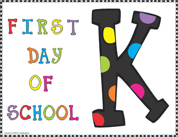 Back to School Signs Grades Pre Kindergarten Through Five