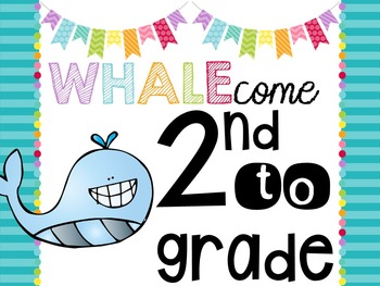 Back to School Signs & Tags {Whale 3}