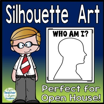 Back to School Silhouette Art - Open House Activity or Parent Night Activity