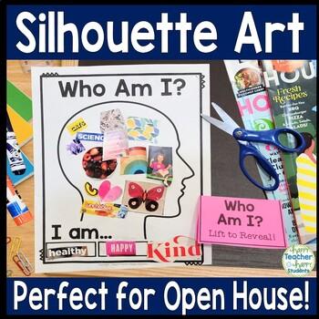Back to School Silhouette Art - Open House Activity or Par