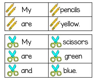 Back to School Scrambled Sentences (Editable)