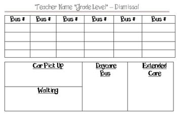 Back to School - Simple Forms & Resources