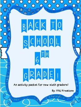 Back to School: Sixth Grade Activity Packet