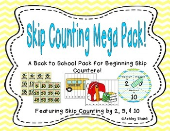 Back to School Skip Counting Mega Pack!