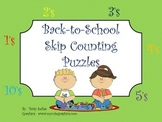 Back-to-School Skip Counting Puzzles