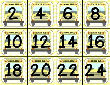 Back to School Skip Counting Sorting Cards