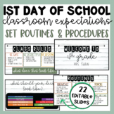 Back to School Slides | First Day of School Presentation | Routines & Procedures