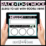 Back to School Slides for Google