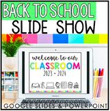 Back to School Slideshow | Open House | Meet the Teacher | Editable | Virtual