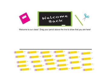 Back to School Smart Board Attendance (Editable)