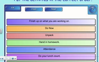 Back to School Smartboard Activity (Editable)