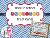 Back to School Smarties Treat Cards