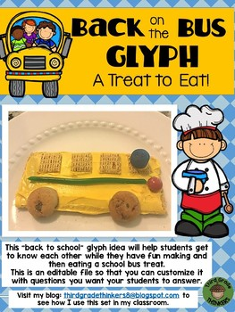 Back to School Snack Idea: Back on the Bus Glyph