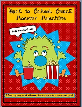 Back to School Snack: Munchies for Monsters