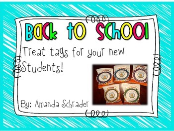 FREEBIE- Back to School Snack Tags