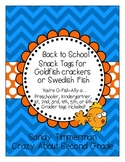Back to School Snack Tags {O-Fish-Ally a ......Preschooler through 6th Grader}