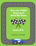 Back to School Snack Topper-Racing Theme