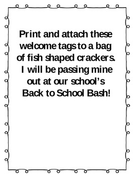 Back to School Snack tags