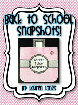 Back to School Snapshots! {K-3 Craftivity}