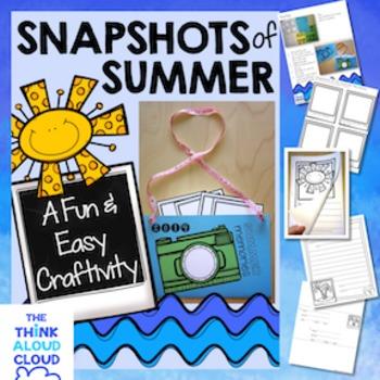 Back to School - Snapshots of Summer {Craftivity + Writing} #tptgoesgold