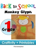 Back to School- Monkey Glyph (craft+printables)