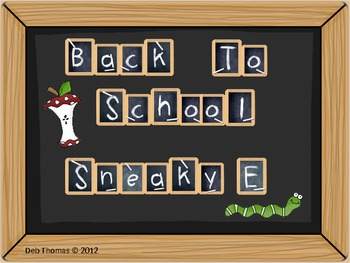 """Back to School Sneaky """"E"""""""