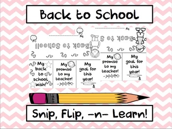 Back to School Snip, Flip, and Learn